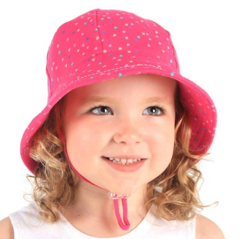 Bedhead - Bucket Hat - Bright Pink Hearts