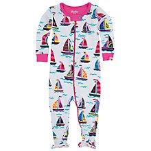 Hatley Babygro w feet - Girls Sailboats