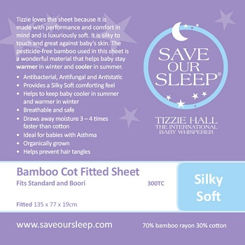 Save Our Sleep Fitted Cot Sheet