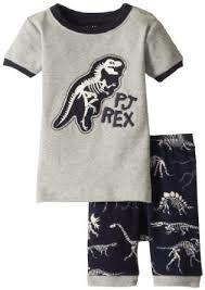 Hatley PJs - Dino Bones Glow in the dark - Short Pj's (Navy with grey dino bones)