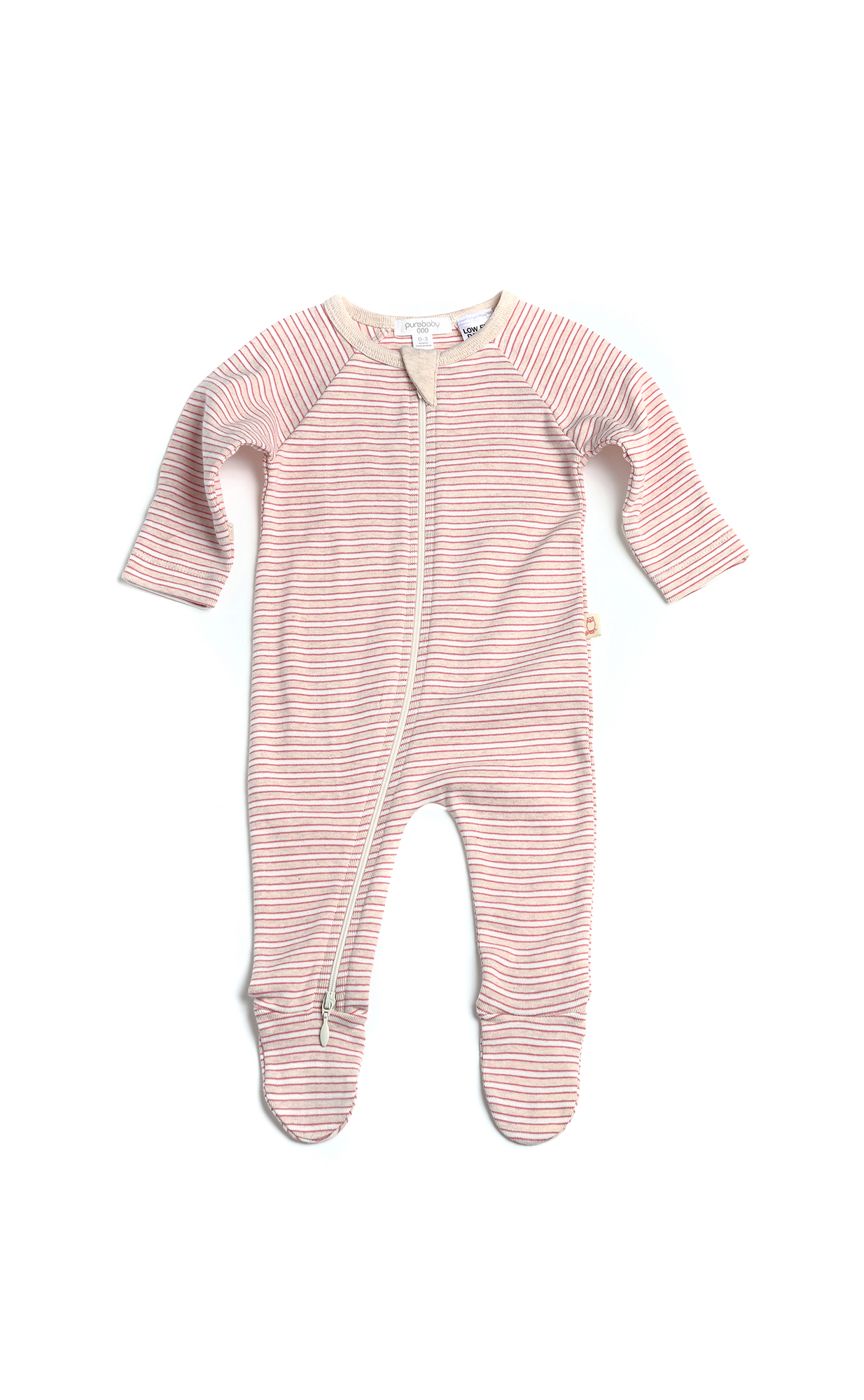 Purebaby Girls Sleep Growsuit Iceberg Stripe - Size 00