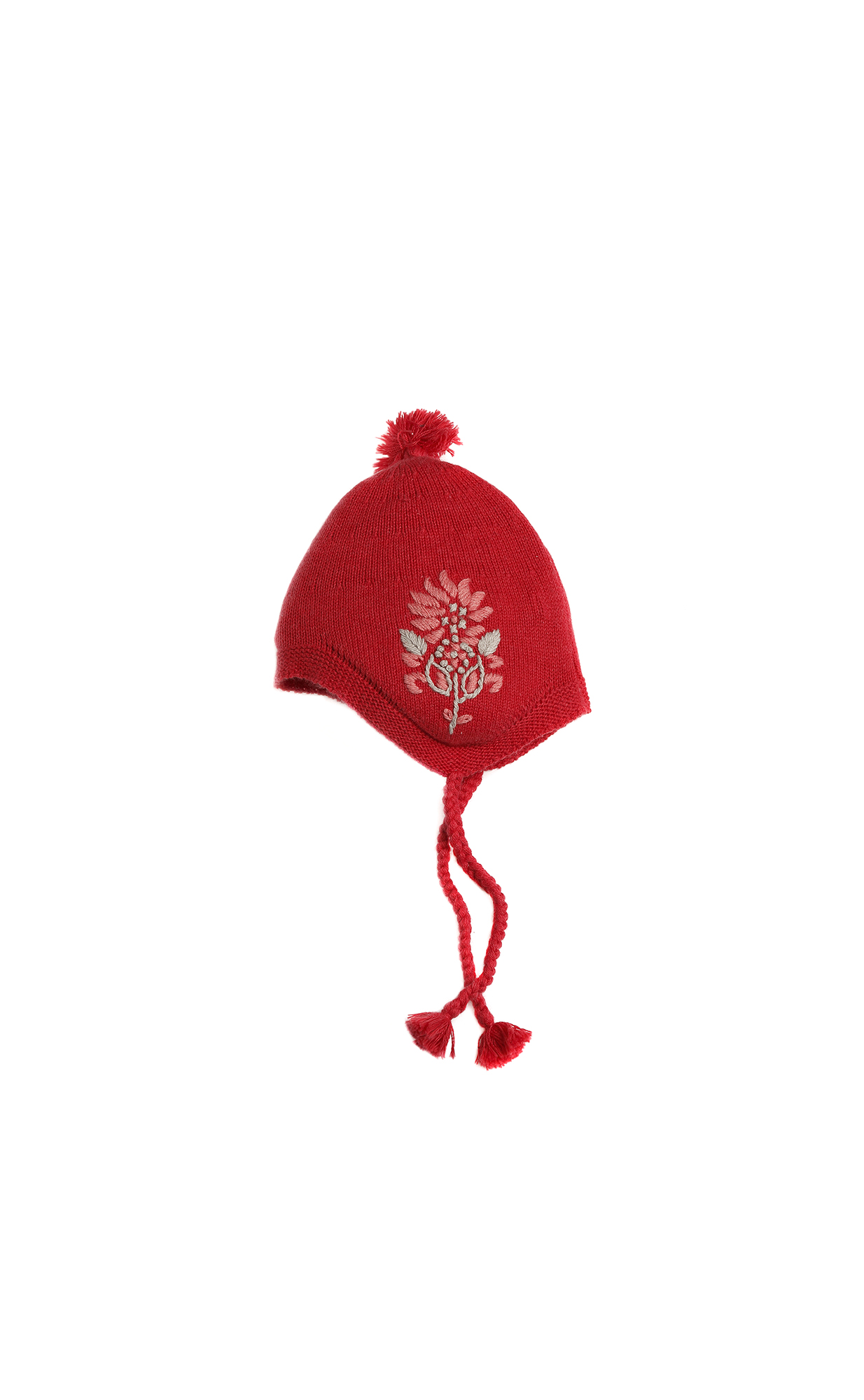 Purebaby Lotus Embroided Beanie - Elderberry Melange